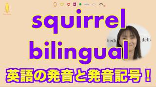 squirrelとbilingual